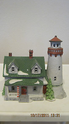 DEPT 56 - NEW ENGLAND LOT 5: CRAGGY COVE LIGHTHOUSE - CAPTAIN'S COTTAGE - ACCESS