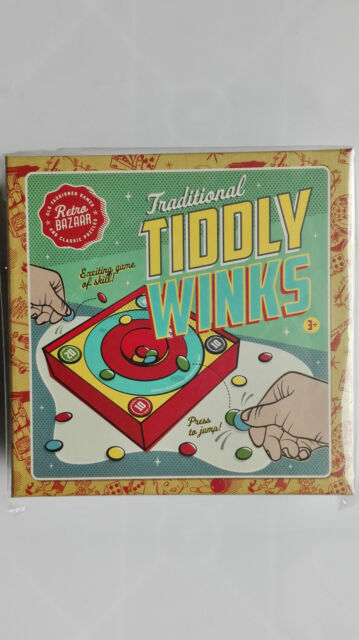 TRADITIONAL FAMILY FUN TIDDLY WINKS GAME IN RETRO VINTAGE STYLE BOX New/sealed