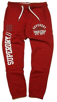 Superdry Men's Red Hook Grit Trackster Classic-Fit Logo-Print Jogger Pant