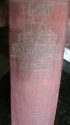 1928 Law Of Real Estate Brokerage  New York Prentace Hall Inc