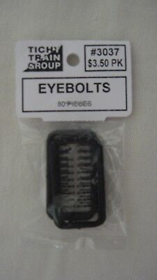 Tichy Train Group 3037 HO Scale Eyebolts 80-Pack