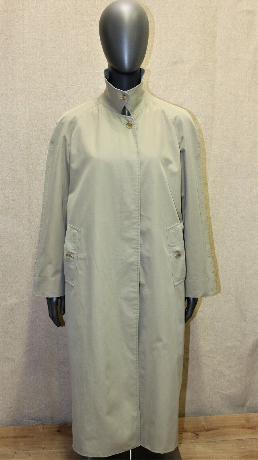 Trench burberry's raglan vintage 70 100% coton beige 12reg 40 fr made in england