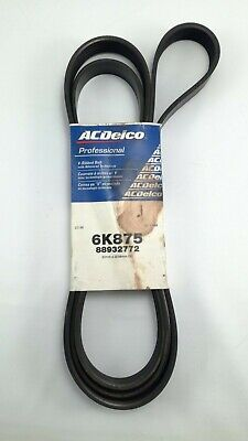 6K875 AC Delco Serpentine Belt New for Chevy Mercedes Olds De Ville Suburban
