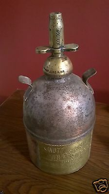 Antique Printers Ink Solvent Can Dispenser Brass 1907 Patent Date