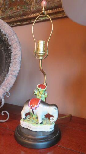 RIGHT FACING Vintage Staffordshire Repro Figurine Elephant Spill Vase Lamp