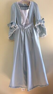 Womens Blue Adult Colonial Reenactment Historical Theatrical Revolution Costume - Historical Costumes For Women