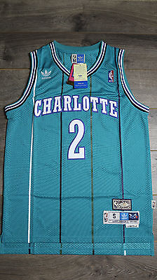 Larry Johnson #2 Charlotte Hornets Classic Vintage Retro Jersey Legends All - All Star Vintage Jersey
