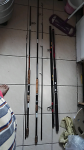 3 Surf fishing rods including few items Roselands Canterbury Area Preview