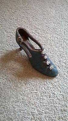 Just the Right Shoe Teal/ Dark Green Shoe Ornament