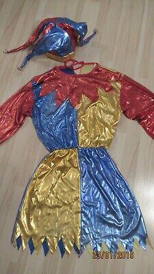 Karneval Fasching Frau Clown Harlekin Gr. 42 Paar -Gruppenkostüm