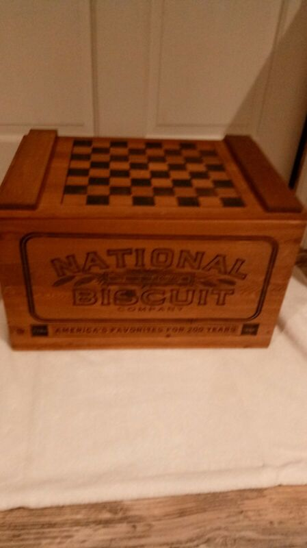 Vintage NABISCO Wooden Box-200th Anniversary Collection-Checkerboard on Lid