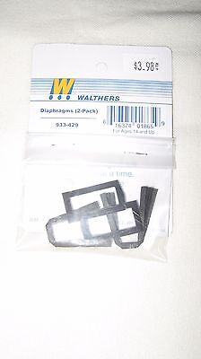 Walthers HO scale Passenger Car Diaphragms (2-pack) 933-429
