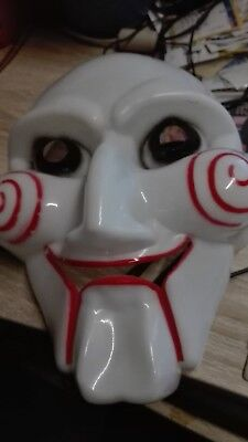 Saw Jigsaw Maske Filmmaske Halloween Karneval Fasching Horror Party - Jigsaw Maske Kostüm