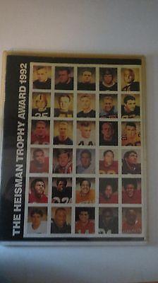 - 1992 Heisman Trophy Award Program Signed by Gino Torreta Autograph Auto Miami