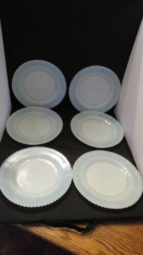 Set of 6 Dinner Plates MacBeth Evans Monax Petalware Wonderful Condition!