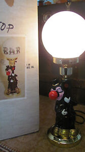 Vintage Electric Drunk Lamp Bar Clown Bum Hobo St Night Light Lamp Post with BOX