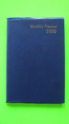 2020 Monthly Large 5x7 Planner Blue Calendar Expense Record Address Book