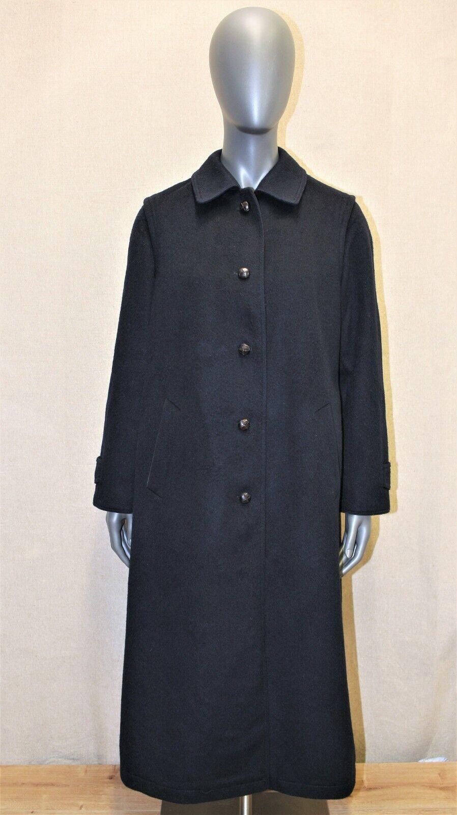 Manteau original loden burberry's vtg 70's laine bleu 12uk 40fr made in austria
