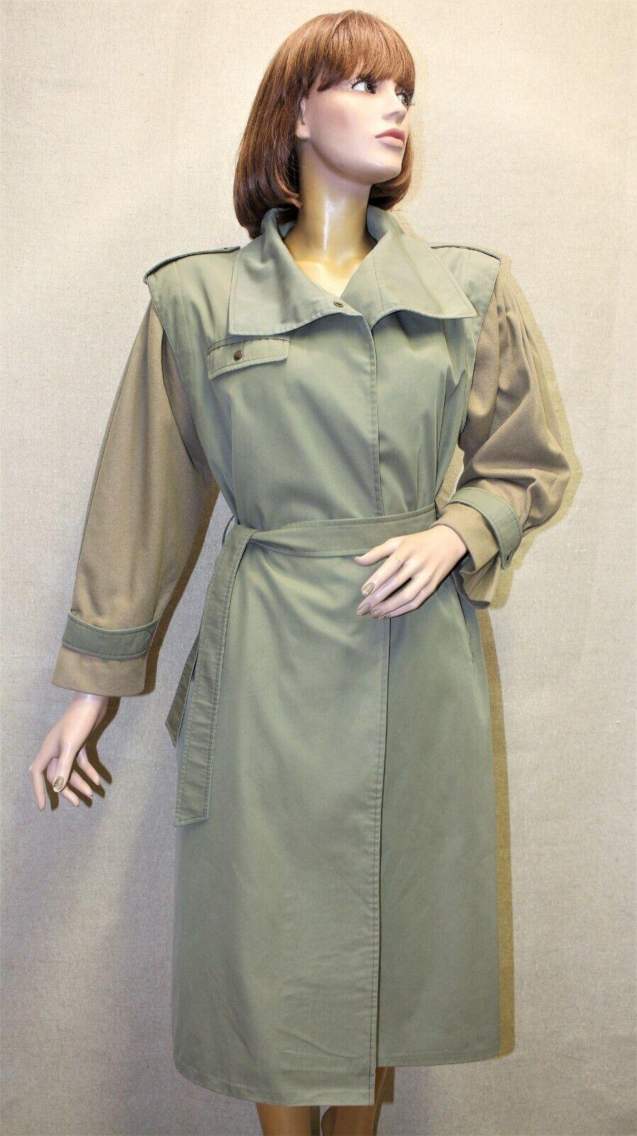 Trench imperméable femme manches laine burberry's vintage 80's kaki taille 42 fr
