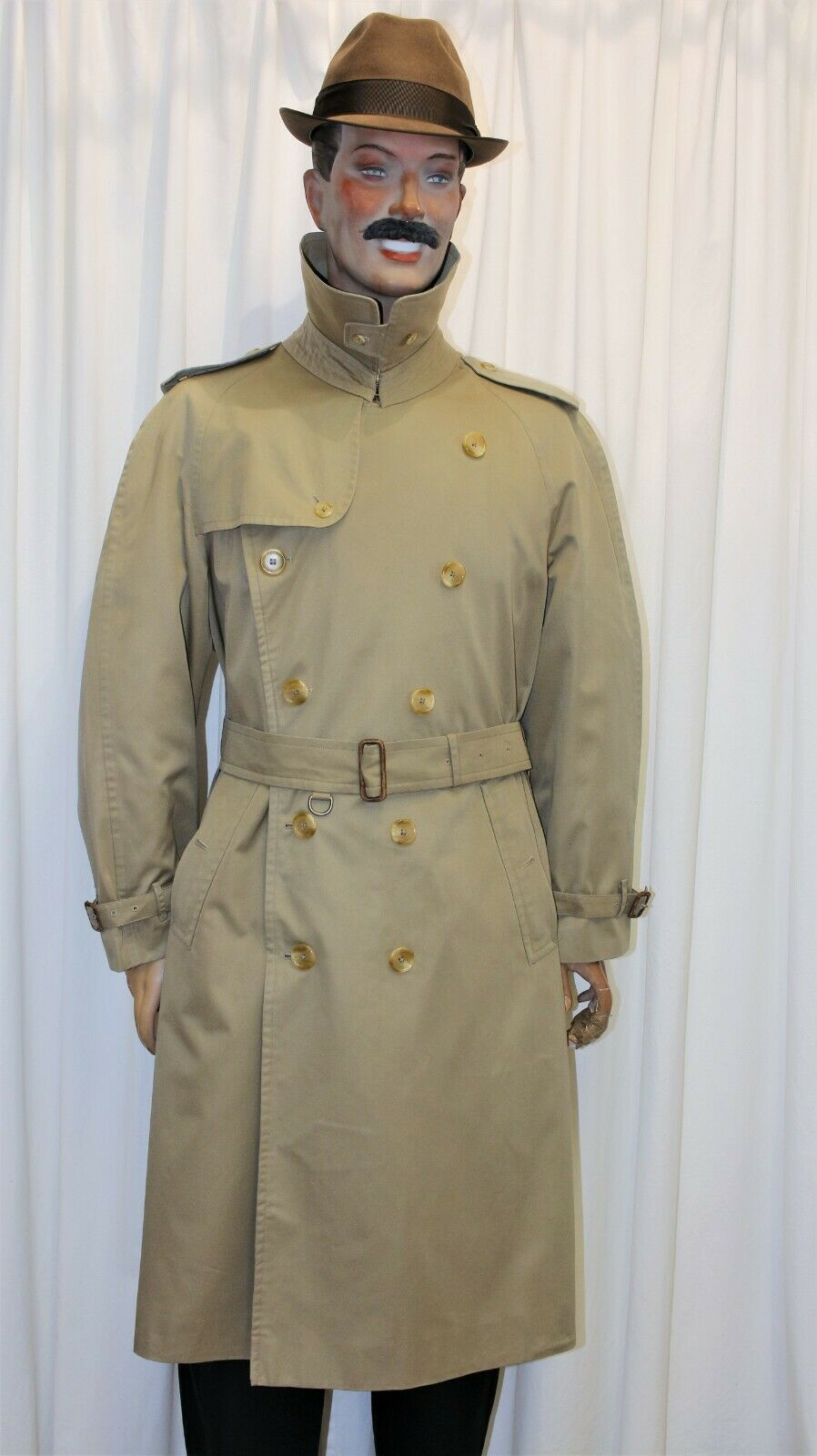 Trench imperméable burberry's homme mastic taille 52 long made in england