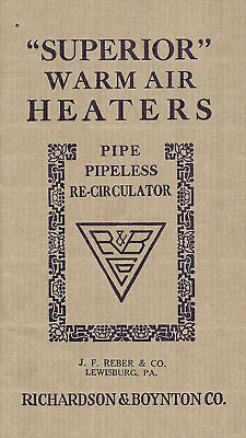 Superior Warm Air Heaters 1929 Illustrated Booklet Richardson Boynton Co.