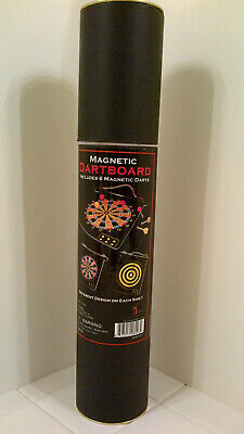 2 Sided Hanging Magnetic Dartboard + 6 Magnetic Darts
