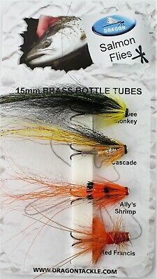 3 V Fly All Sizes Ultimate Cascade Conehead Monkey Salmon Tube Flies /& Hooks