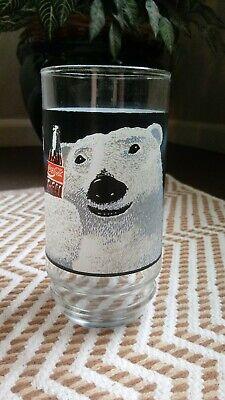 Vintage Coca Cola Glass polar Bear always cool drinking glass