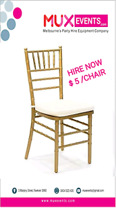 $5 golden tiffany chair hire Fawkner Moreland Area Preview