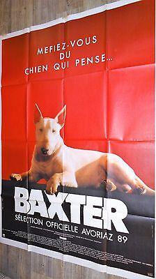 Baxter !   affiche cinema chien bull terrier