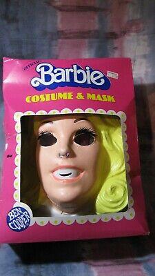 VINTAGE 1983 Ben Cooper Barbie Halloween Costume & Mask Lg 12-14