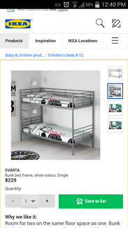 Ikea bunk bed (almost new urgent sale)