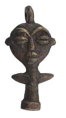 Pendant Doll Ashanti Art African 53 mm Keychain Bronze ethnic 26192