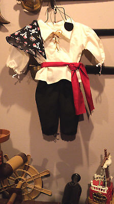 BOY'S RENAISSANCE PIRATE OUTFIT, SCA ,LARP,  PIRATE, COSPLAY  TODDLER SIZE 2-3