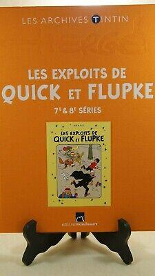 HERGE - LES EXPLOITS DE QUICK et FLUPKE 7 et 8 - MOULINSART 2013