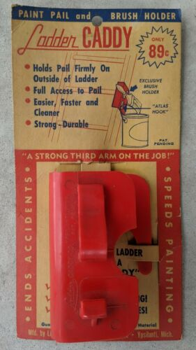 Vintage New NOS Ladder Caddy Co. Paint Can & Brush Holder Plastic Ypsilanti, MI