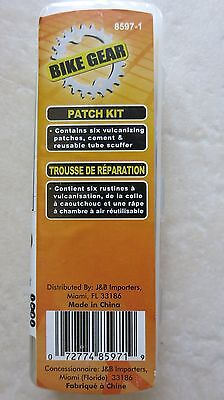 ( LOT OF 2 ) Bike Gear patch kit 8597-1 bicycle tire fix 6 patches ea. cement Tu