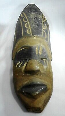 Vintage African Tribal Carved Wood Mask. Came from Lady's Estate.