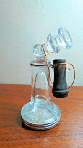 Victory Glass Vintage Telephone Candy Container