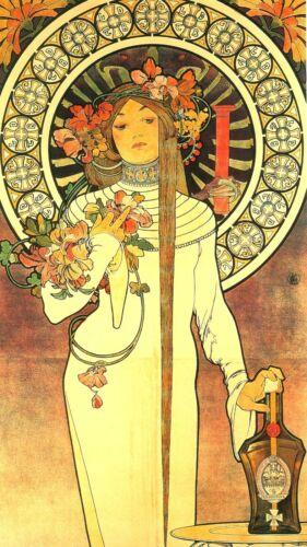 US Seller- The Interior Design La Trappistine Alphonse Mucha Art Nouveau Poster - $11.95