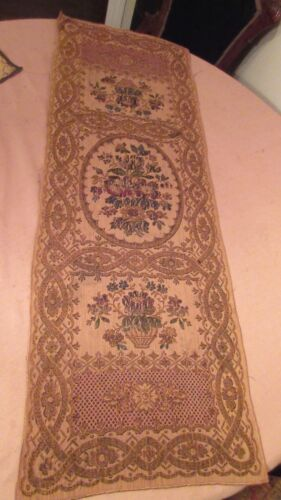 46 in vintage ornate embroidered centerpiece table mat runner floral needlepoint