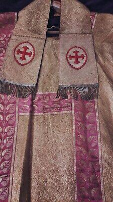 Pre Vatican II Vestment Robe Oddities Rare Exorcism Robe Catholic Robe Possessed