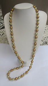 Vintage Styled Glass Pearl Bead Flapper Necklace Great Gatsby Downton Abbey