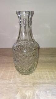 pressed glass bottle vintage