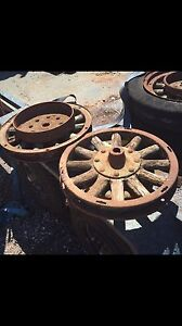 Wooden spoked vintage truck wheels $75 ea Whyalla Norrie Whyalla Area Preview