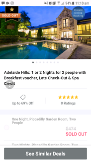 Mt Lofty house groupon voucher