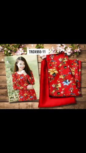 Vietnamese Traditional Ao Dai - Long Dress with Matching Pants TRDX955-11