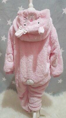 Häschen Bunny Overall Winteranzug Fleece Kostüm Einteiler Übergang - Rosa Häschen Anzug Kostüm