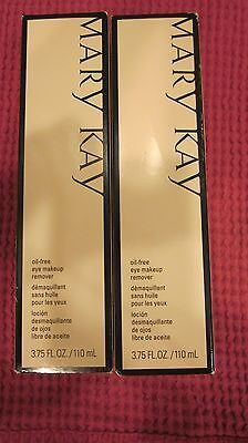 MARY KAY OIL FREE EYE MAKEUP REMOVER SEALED 3.75 FL. OZ. LOT OF 2