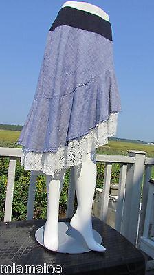 LLECTION skirt gypsy white eyelet lace costume farm girl hot (Hot Gypsy Girls)
